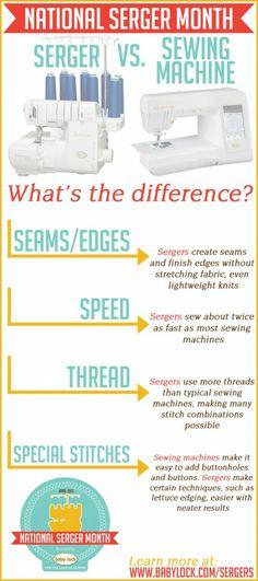 Serger vs. Sewing Machine - National Serger Month