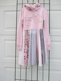 Women's upcycled repurposed hooded tunic by restorationdrygoods