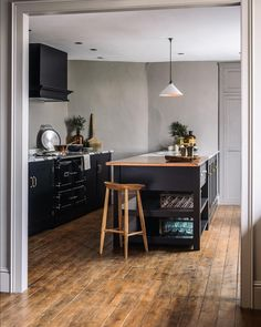 """deVOL Kitchens on Instagram: """"Black Shaker cupboards, an aged copper worktop and a few beautiful deVOL accessories, all made here at Cotes Mill #deVOLKitchens"""""""