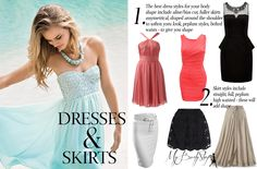 dresses and skirts for an inverted triangle body shape
