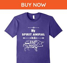 Mens My Spirit Name Is A Pig Funny Bacon Pig Meat Lovers T-Shirt 3XL Purple - Food and drink shirts (*Amazon Partner-Link)