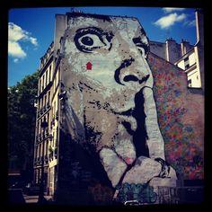 Jef Aérosol - Centre Georges Pompidou #StreetArt #Stencil