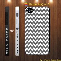personalized chevron grey iphone 4s and 5 cases , personalized chevron - iPhone 4 Case, iPhone 4s Case, iPhone 5 Case by IPhoneCasesShop, $15.89