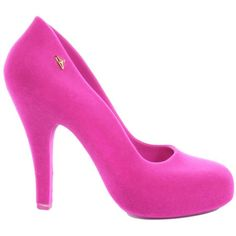 Vivienne Westwood For Melissa Womens Skyscraper Fuschia Pink Court... ($205) ❤ liked on Polyvore
