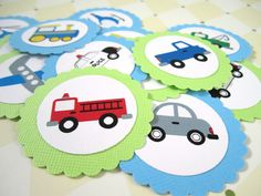 Transportation Vehicle Party Favor Tags