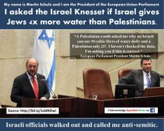 Yes - if you're Palestinian - you are limited to the amount of water you can get by significantly less than that of Jewish settlers in the same area. It's racist and intentional.
