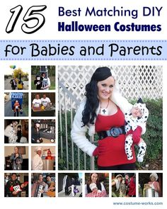15 Great Ideas of Matching DIY Halloween Costumes for Babies and Parents