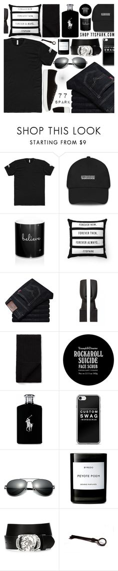 """What a man! By 77 Spark"" by tinkabella222 ❤ liked on Polyvore featuring Joseph, Triumph & Disaster, Ralph Lauren, Byredo, Diesel, Prada, men's fashion, menswear, allblack and casualstyle"