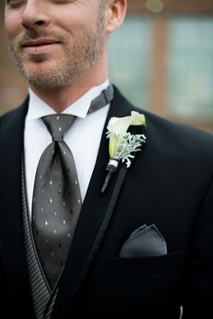 Fun texture play in this formal groomsmen look {Photo by My Life Photography via Project Wedding}