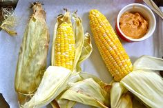 Oven Roasted Corn with Chili Honey Butter