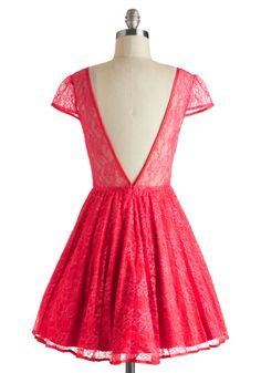 Raspberry Cocktails Dress (back) | Mod Retro Vintage Dresses--ModCloth.com