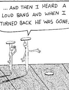 ... And then I heard a loud bang ...