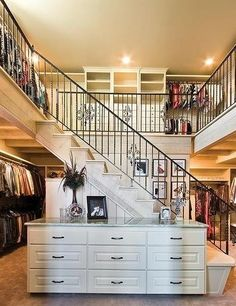 million dollar walk in closet | don't even think there's a Kardashian with a 2-story closet!