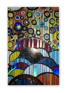Abstract Acrylic Painting on BIG 36Lx24W by HeatherMontgomeryArt, $149.00