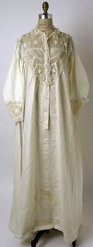 1860 womens nightgown - Google Search