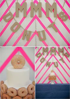 donut cake... I love donuts and cake- great combo