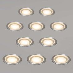 Juego De 10 Focos GUARD IP54 WW   Precioso Conjunto De 10 LEDs Empotrados  Ultraplanos,