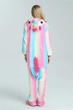 3f863b2140 New Adult unisex Kigurumi unicorn pajamas cosplay home party animal  sleepwear