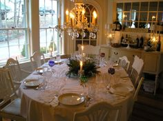 Adding Extra Dining Room Table Decorations on Your Dining Table Setup: Excellent Dining Room Tables Decorations Glorious Crystal Chandelier White Oval Table Sets Inspiring Country Favorite Dreaming Home Design Crystal Light ~ workdon.com Dining Room Inspiration