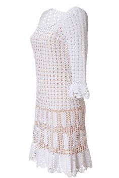 The Woman in White: crochê vestido de Alberta Ferretti. Seleção de modelos de e Padrões. Fale com LiveInternet - Serviço russo on-line Diaries