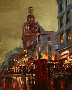 Evening in London  Russian Artist Oleg Trofimoff