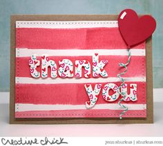 A Cheerful Thank You Card by Jenn!