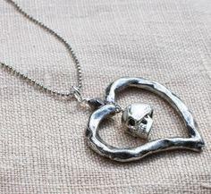 Skull Heart Necklace