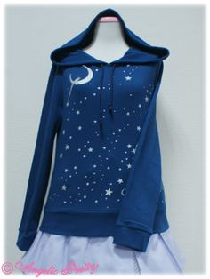 Angelic Pretty Shining Star print Parker (Navy) Waaah I want this so bad >A