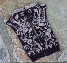 Stephlaw's Endpaper Mitts (Eunny Jang's pattern)