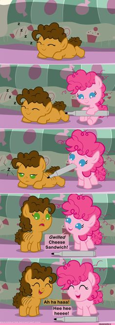 Cheese and Pinkie if they were friend when little