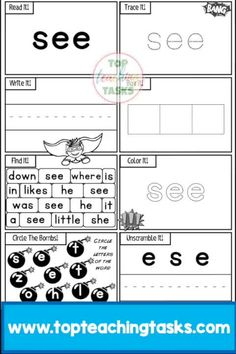 Pre-K Sight Words Activity Worksheets Dolch. These superhero themed sight word activity sheets feature 40 Dolch sight words. Help improve sight word reading fluency in your primary classroom. Each activity sheet has eight activities! Get these this Back to School Season!