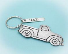 Dad Pick Up Truck Keychain Truck Keychain Grandpa Keychain | Etsy #tracytayandesigns #dadkeychain #fathersdaygift #giftfordad