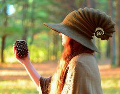 Brown Halloween Witch Hat. Wizard Hat. Fantasy от HandiCraftKate