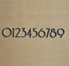 Mid century Modern house numbers available at www.shopboxhill.com