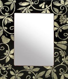 Mother of Pearl Tapestry Mirror by Bella Bella | Furniture, Home Decorative Accents