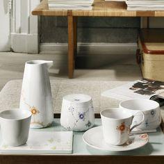 Multicoloured Elements dinnerware in the 2012 Royal Copenhagen Catalogue