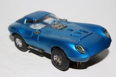 Tyco Cheetah Blue HO slot car