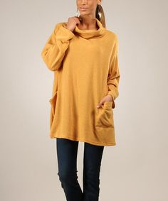 Another great find on #zulily! Yellow Omega Jaune Tunic by Eva Tralala #zulilyfinds