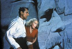 """Cary Grant, Eva Marie Saint in """"North By Northwest"""" (Alfred Hitchcock, 1959)"""