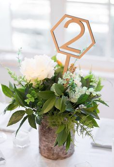 Geometric Table Numbers on Sticks for Wedding, Wood Laser Cutout Hexagon Table Numbers Wedding Decor, Boho Centerpiece Decor (Item - GST200)