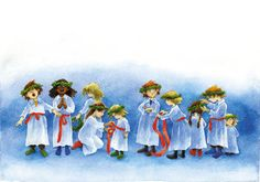jpg image by - Photobucket Christmas Tale, Christmas Feeling, Swedish Christmas, Christmas Glitter, Vintage Illustration, Christmas Illustration, Sankta Lucia, Santa Lucia Day, Swedish Decor