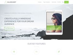 Allegiant is a free multipurpose WordPress topic ideal for offices and experts. This subject accompanies bolster for a full landing page slider, include pieces, portfolios, administrations, colleagues, and even tributes,...