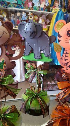 Centro de mesa de Safari bebé ducha central fiesta temática