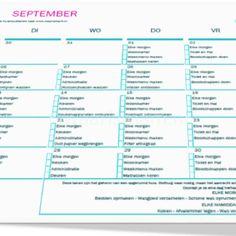 Huishoudschema september