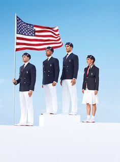 U.S. Olympic Opening ceremonies outfits by Ralph Lauren.