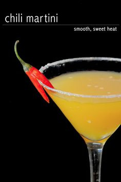 Chili Nectarine Martini - nectarines are perfectly ripe right now, and a hint of spice is perfect with them