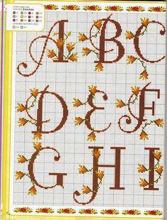 Non sono sparita... eccomi qua con nuovi alfabeti con fiori...                                                                             ...