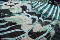 A613 Voile fantasie mint/groen/zwart