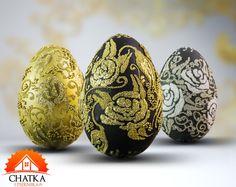 Komplet trzech pisanek z motywem kwiatowym. Ozdoby wielkanocne robione ręcznie - Twój pomysł na prezent na Wielkanoc. Egg Crafts, Easter Eggs, Diy, Easter Activities, Bricolage, Do It Yourself, Homemade, Diys, Crafting