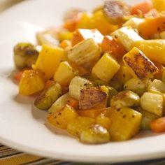 Parmesan-Roasted Winter Vegetables